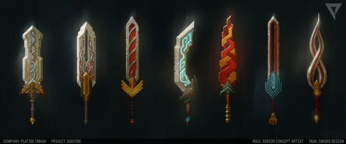 Artur_Sadlos_Concept_Art_GodFire_swords