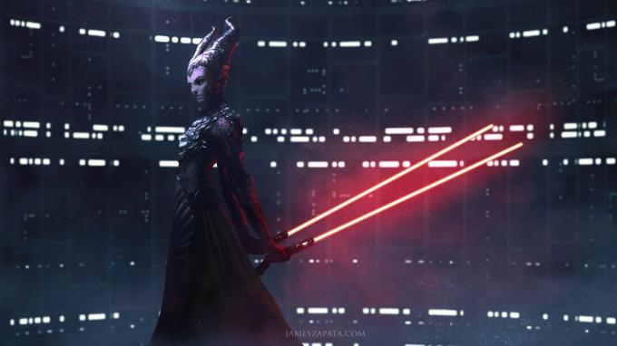Star_Wars_Art_Illustration_01_James_Zapata_Darth_Maleficent