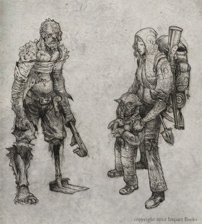 Sean Andrew Murray art illustration Wasteland Inhabitants sketch 03