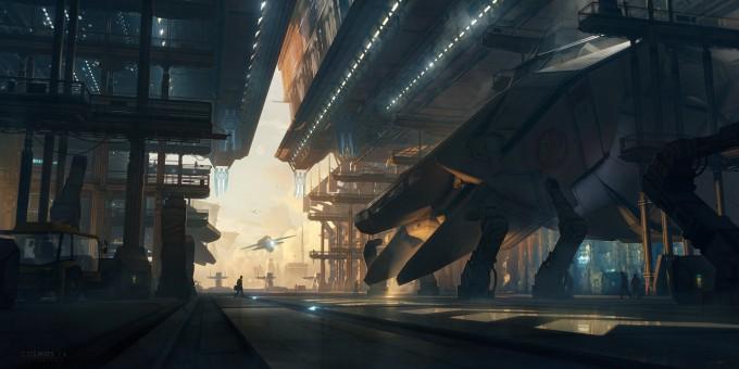Bastien_Grivet_Concept_Art_Cosmos_14_Spaceport_01