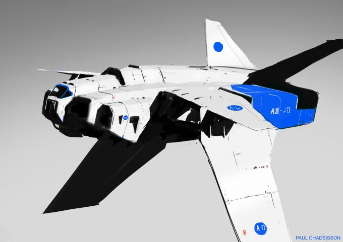paul chadeisson concept art testspeed 0159 ship