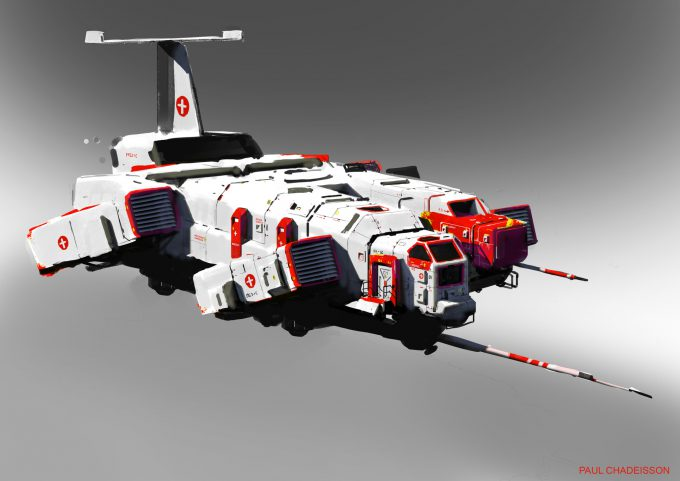 paul chadeisson concept art testspeed 0160 ship