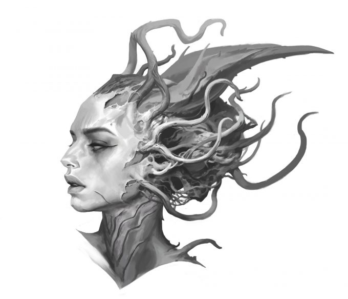 Fantasy portrait cocnept studies viktor titov 22 12 2017