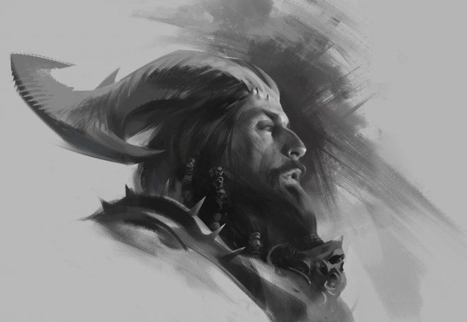 Fantasy portrait cocnept studies viktor titov 29 08 2018 lev