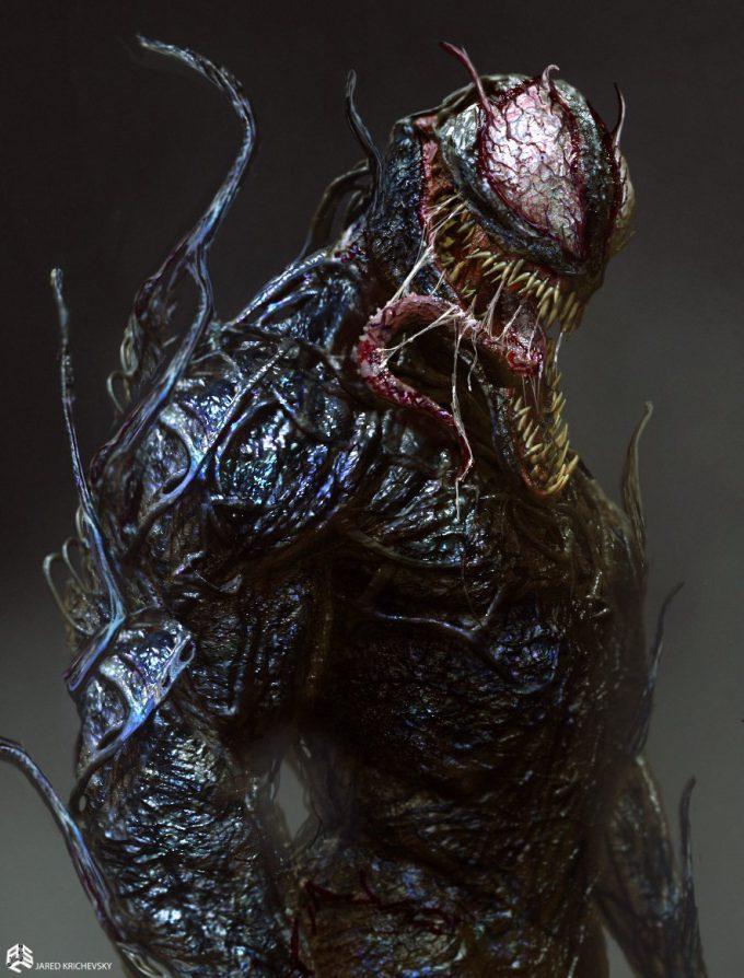 Venom early development concept design Jared Krichevsky