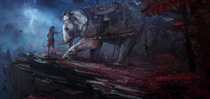 Far_Cry_4_Concept_Art_Kay_Huang_elephant_kneelb_rev01