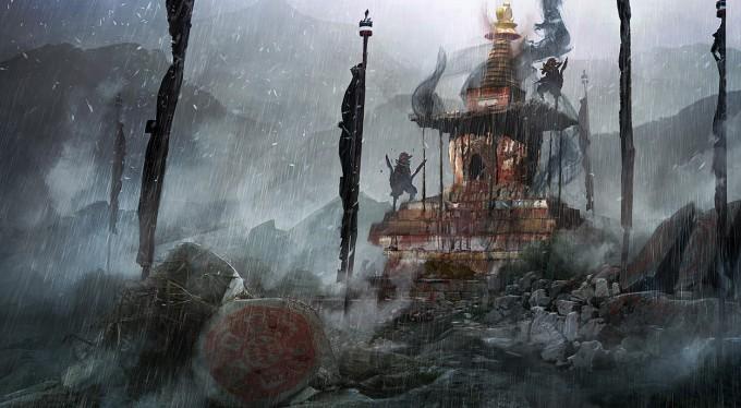 Far_Cry_4_Concept_Art_Kay_Huang_stupa_negday