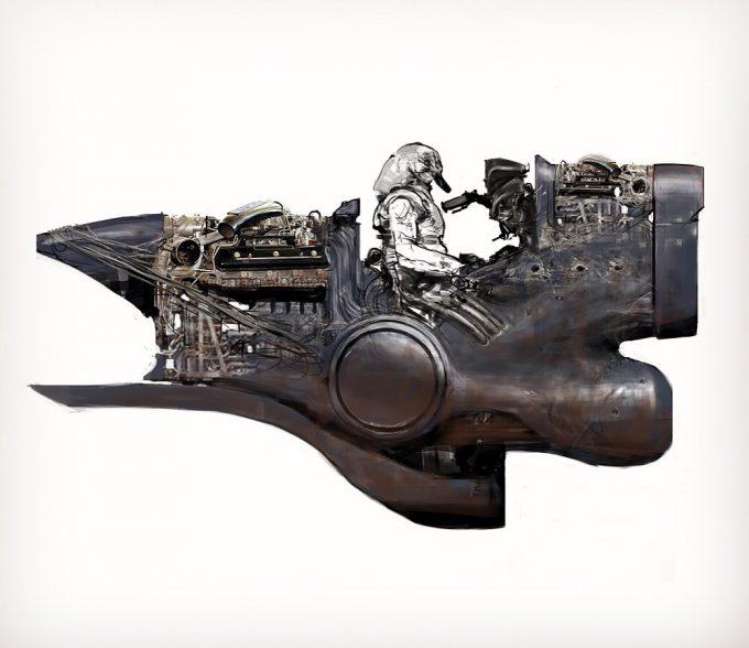 Jeff Simpson concept art painting 01