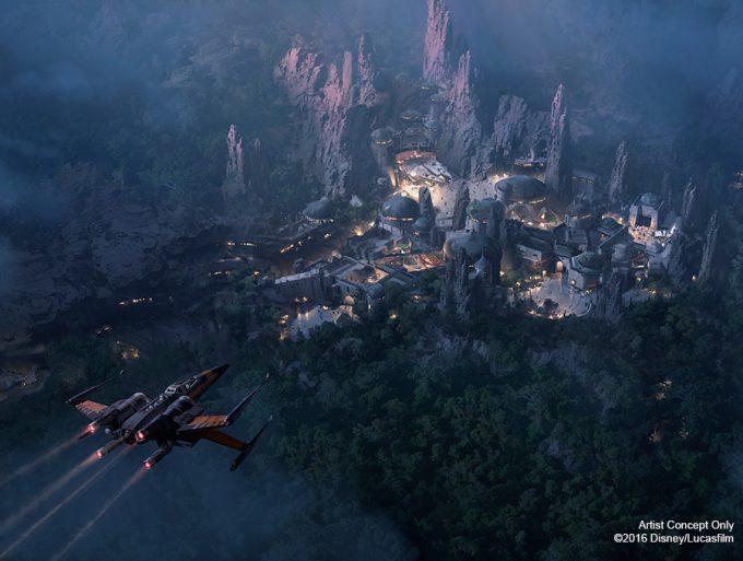 Star Wars Disney Theme Park D23 night