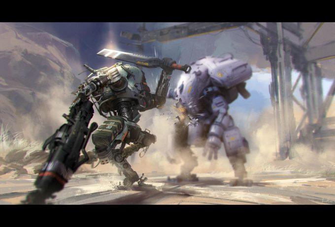 Titanfall 2 Concept Art Sword Titan01 action