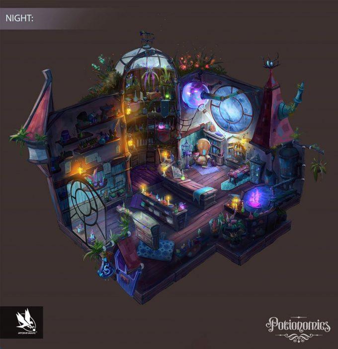 Voracious Games_Potionomics_Potion Shop_Night