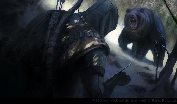 Gilles_Beloeil_Concept_Art_Assassins_Creed_3_bear-attack