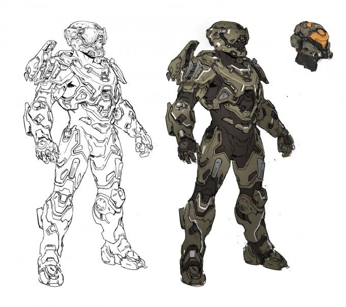 Halo_5_Guardians_Concept_Art_recluse_armor_sketch