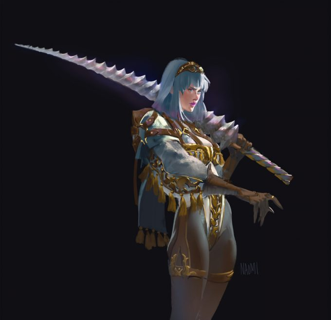 Naomi Baker Art Unicorn Sword 01