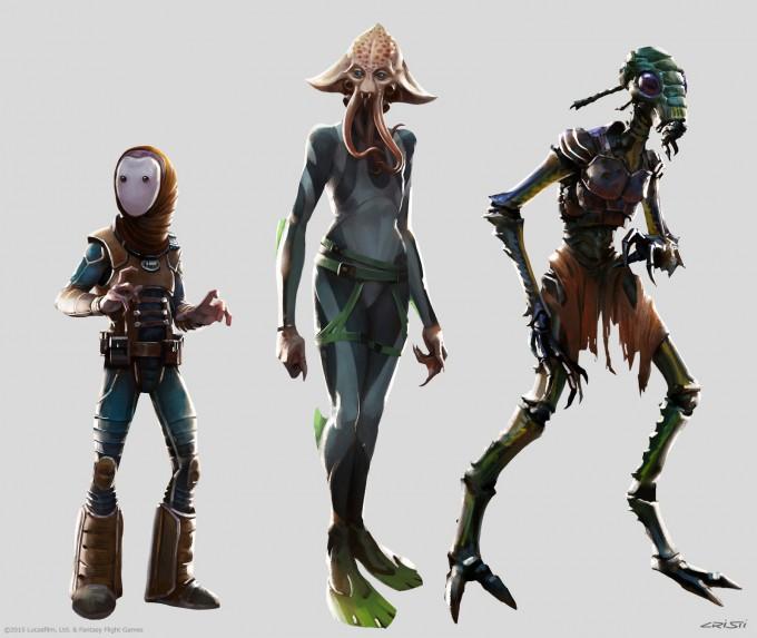 Star_Wars_RPG_Art_CristiB_species_lineup