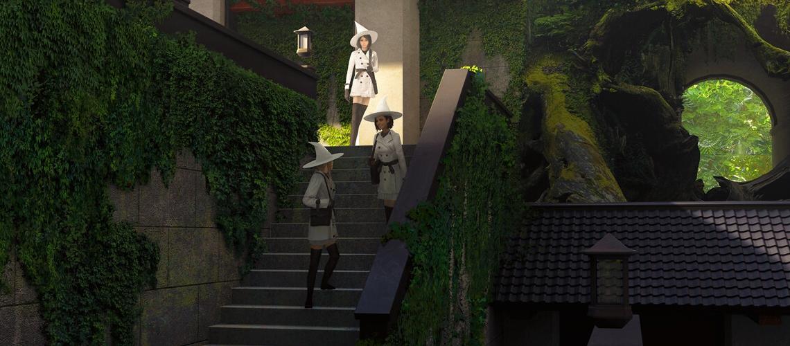 brandon liao concept art illustration staircase M01