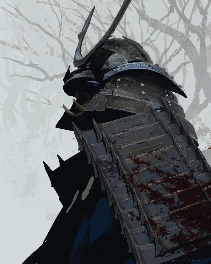 Samurai_Concept_Art_Illustration_01_Joon_Ahn_Samurai_Sketch
