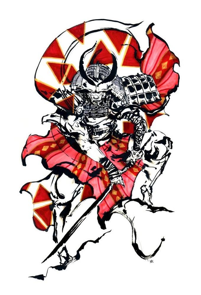 Samurai_Concept_Art_Illustration_01_Kekai_Kotaki