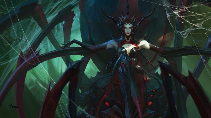 bayard wu concept art spider queen