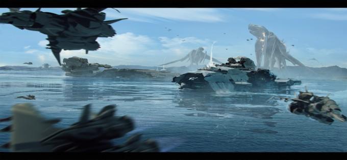 Pacific_Rim_Fan_Art_Concept_Illustration_01_Brad_Wright-battleship-monster-attack