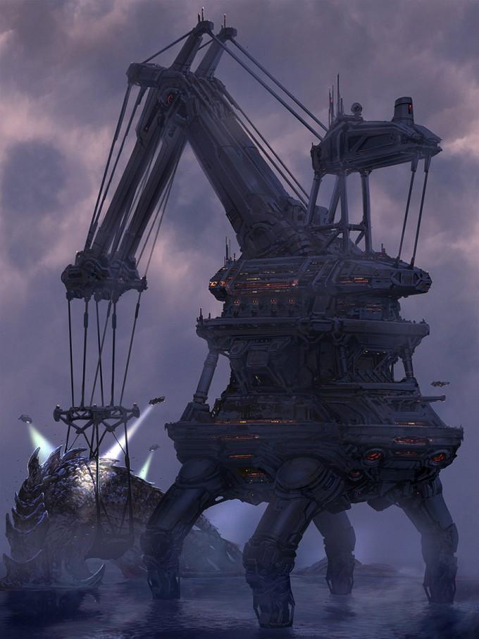 Pacific_Rim_Fan_Art_Concept_Illustration_01_Pat Presley-Kaiju_Fishing