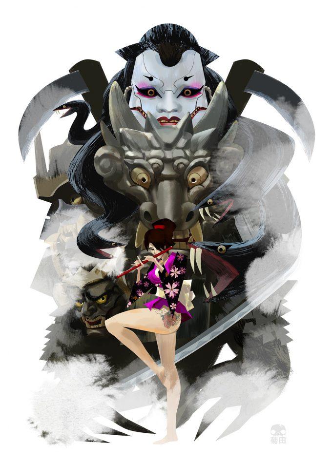 Scott-Kikuta-Art-Illustration-Monsters-Dames-2017