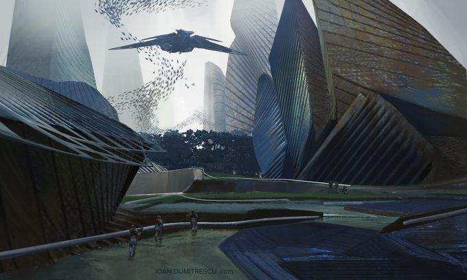 ioan dumitrescu concept art daily future city