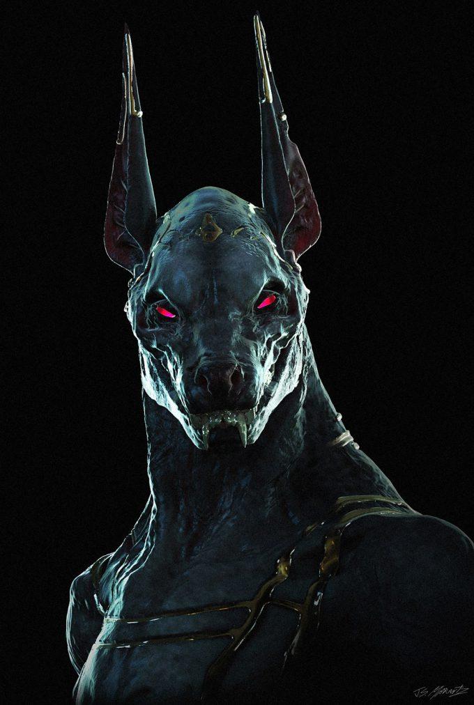 jerad marantz character concept art Anubis Head