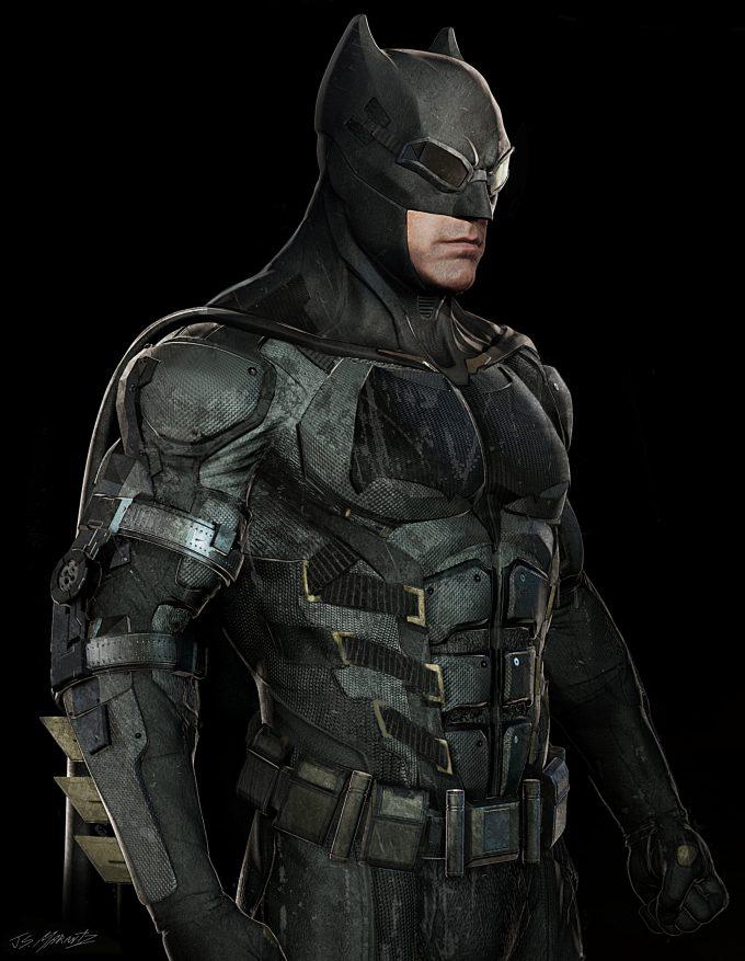 jerad marantz character concept art batman tech revision 1