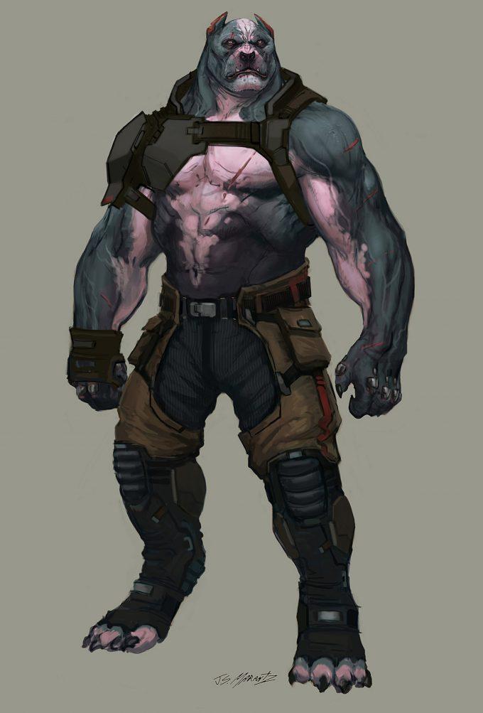 jerad marantz character concept art pitt wip 4 armor