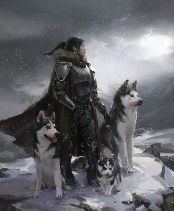 steve wang concept art mother of huskies