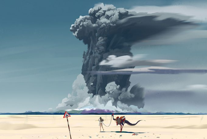 yun ling concept art illustration clouds