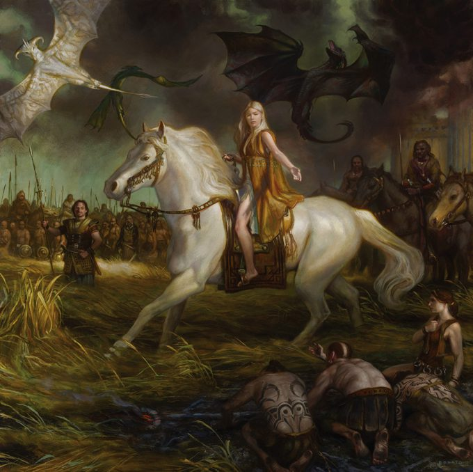 Game of Thrones Concept Art Illustration 01 Donato Giancola Mother of Dragons Daenerys Targaryen
