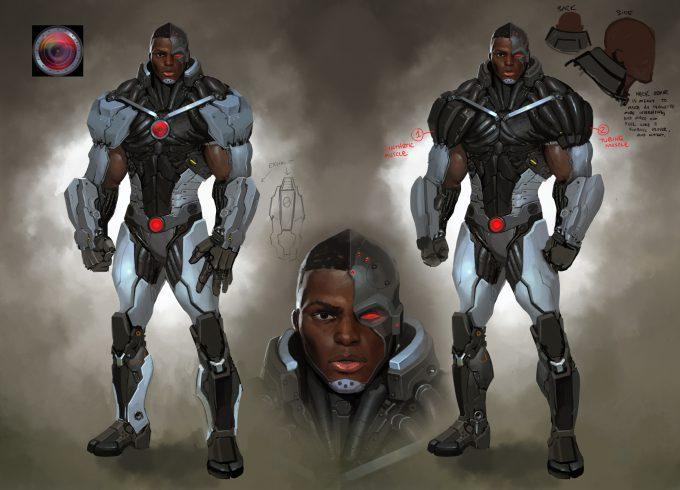 Injustice Gods Among Us Marco Nelor Concept Art Cyborg n01