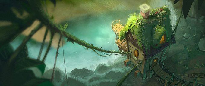 Jason_Pastrana_Concept_Art_illustration_house_by_waterfall
