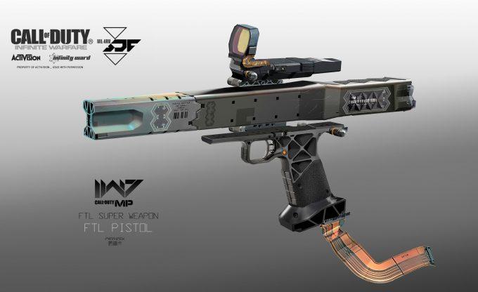 Call of Duty Infinite Warfare Concept Art Aaron Beck FTL pistol 01