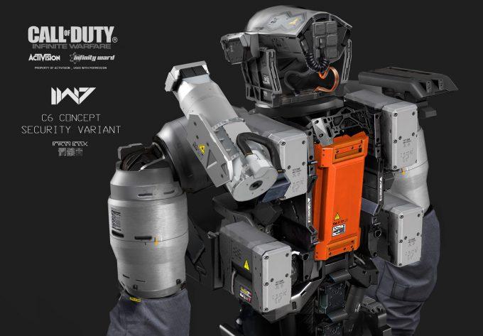 Call of Duty Infinite Warfare Concept Art Aaron Beck MP synaptic03 rear torso details 01