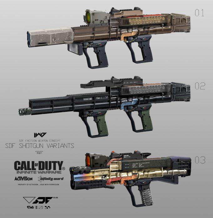 Call of Duty Infinite Warfare Concept Art Aaron Beck SDF shotgun variants 02