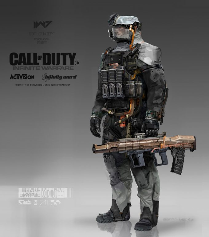 Call of Duty Infinite Warfare Concept Art Aaron Beck SDF soldier A 01