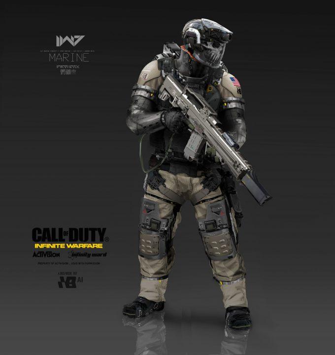 Call of Duty Infinite Warfare Concept Art Aaron Beck marine fullbody A 01