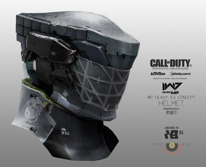 Call of Duty Infinite Warfare Concept Art Aaron Beck merc head3 03