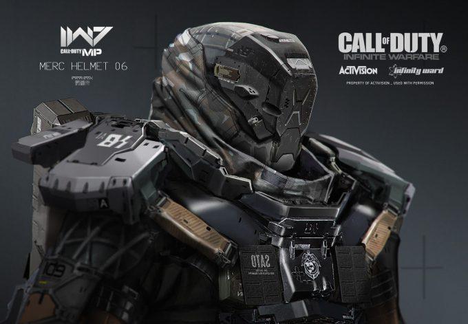 Call of Duty Infinite Warfare Concept Art Aaron Beck merc helmet6 01