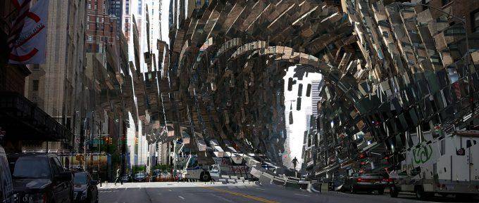 Marvel Doctor Strange Pre Production Concept Art OP split building