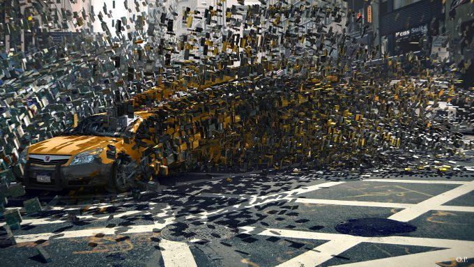 Marvel Doctor Strange Pre Production Concept Art OP split street