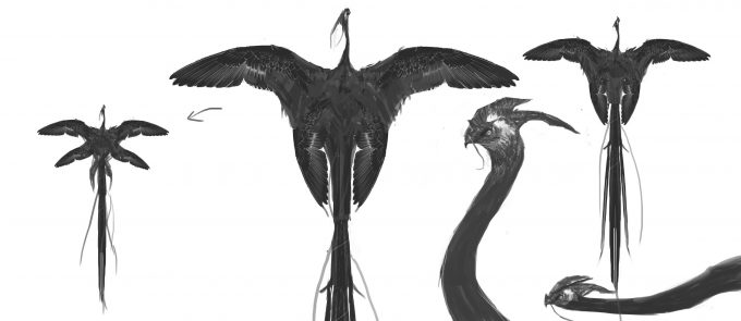 Fantastic Beasts and Where to Find Them Concept Art BOSWELL OCCAMY 006 V001 DB Sketch