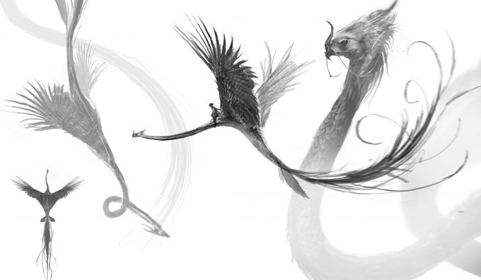 Fantastic Beasts and Where to Find Them Concept Art BOSWELL OCCAMY 011 V002 DB Sketch