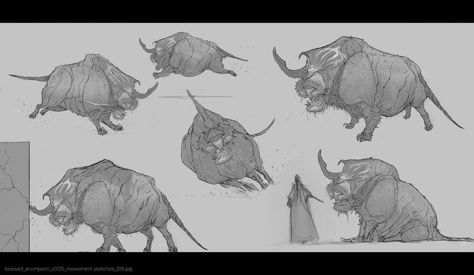 Fantastic-Beasts-and-Where-to-Find-Them-Concept-Art-DB-erumpent_v005_movement_sketches