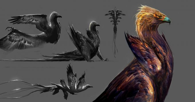 Fantastic Beasts and Where to Find Them Concept Art boswell thunderbird sketch DB 01