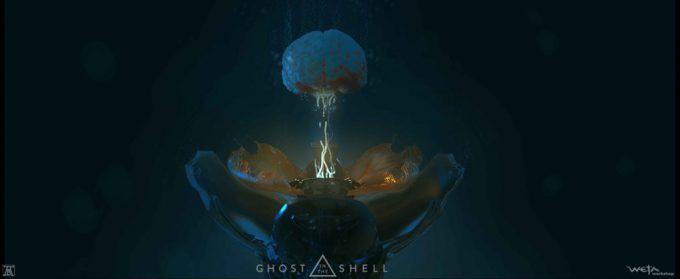 Ghost in the Shell concept art Andrew Baker Shelling Brain 02