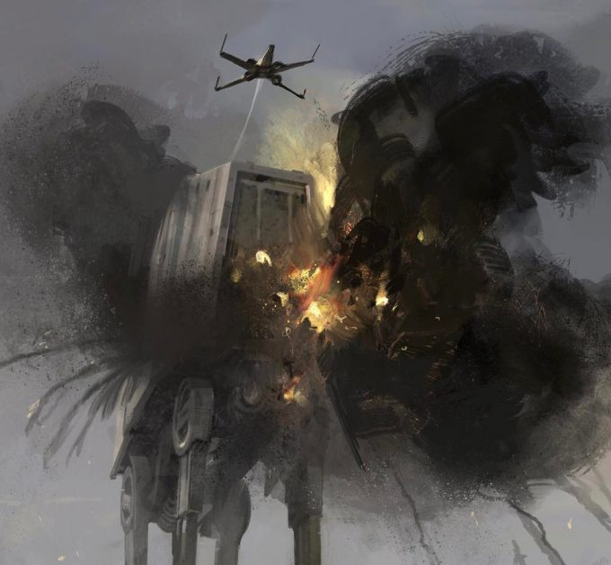 Star-Wars-Rogue-One-Concept-Art-Matt-Allsopp-10-Scarif-X-Wing-AT-AT